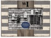 "House and Harbour Stripe ""No. 1"" 4-Inch x 6-Inch Picture Frame in Grey"