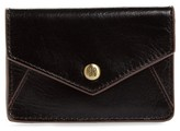 Hobo Women's Bolt Leather Card Wallet - Black