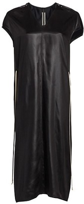 Rick Owens Latex Island V-Neck Dress