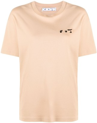 Off-White logo-embroidered T-shirt