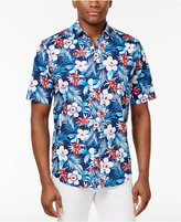 Club Room Men's Tropical Floral Cotton Shirt, Only at Macy's