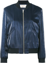MAISON KITSUNÉ slide pockets bomber jacket - women - Polyester/Acetate/Viscose - M
