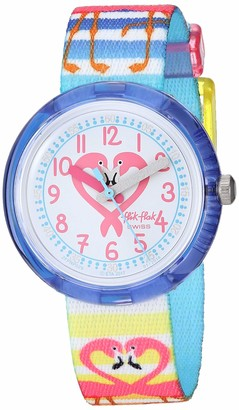 Flik Flak Kids' Tropical Quartz Polyester Strap