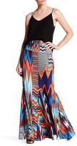 Julian Chang Joan Print Jersey Maxi Skirt