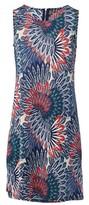 Dorothy Perkins Womens Izabel London Navy Peacock Print Shift Dress, Navy