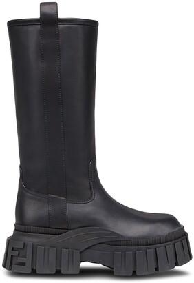 Fendi Chunky Mid-Calf Boots