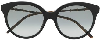Gucci Bamboo-Effect Round-Frame Sunglasses