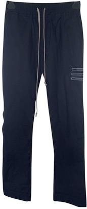 Rick Owens Black Cotton Trousers