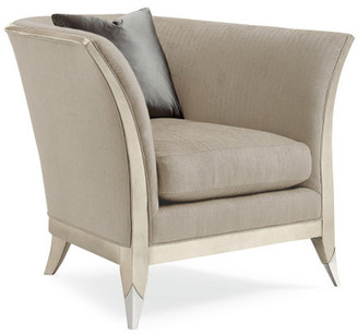 Caracole Out With A Flair Curvaceous Exposed Frame Chair