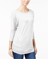 Planet Gold Juniors' Ruched Dolman-Sleeve Top
