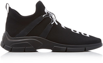 Prada Lace-Up Knit Sneakers