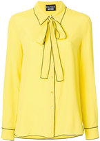 Moschino neck bow shirt - women - Silk/Viscose - 42