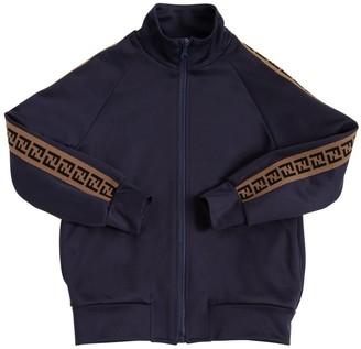 Fendi Zip-up Cotton Blend Sweatshirt