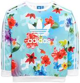 adidas OLDER GIRLS FLORAL SWEAT TOP