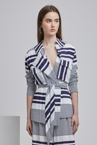 Finders Keepers MASON JACKET navy stripe