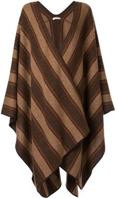 The Row Brick stripe cape