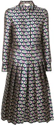 La DoubleJ Texture Pleated Shirt Dress