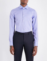 Corneliani Micro-check regular-fit cotton shirt