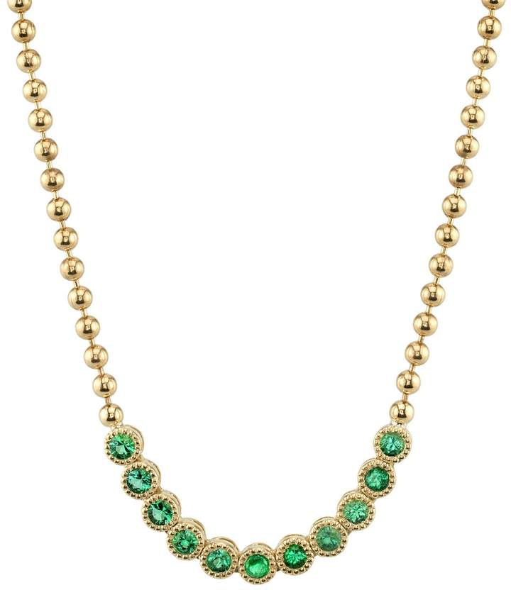 Ark Emerald Stone Bead Necklace