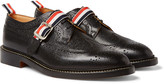 Thom Browne Pebble-Grain Leather Wingtip Brogues