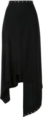 Ports 1961 asymmetric draped midi skirt