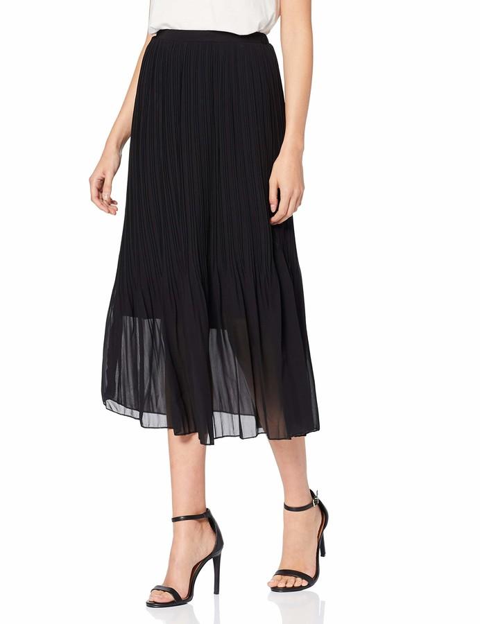 New Look Women's Plain Mini Pleated Skirt