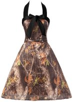 Gorgeous Bridal Camo Mini Halter Wedding Party Homecoming Dress 20 - US