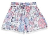 Ella Moss Girl's Izzy Floral Flared Shorts