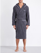 Emporio Armani Hooded terry-cotton robe
