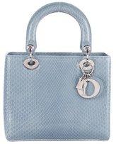 Christian Dior Medium Python Lady Bag