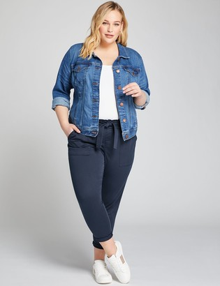 Lane Bryant Pull-On Belted Cargo Crop Pant