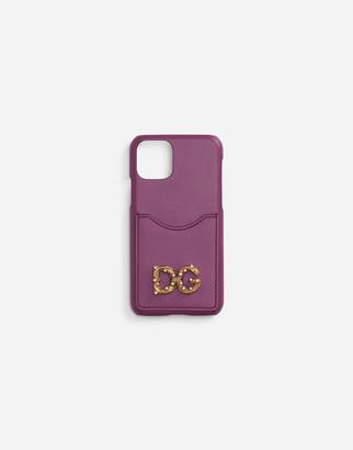 Dolce & Gabbana Amore Iphone X-Xs Case In Calfskin