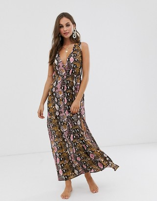 Anmol maxi split front beach dress