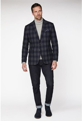 Jeff Banks Fade Check Blazer In Tailored Fit
