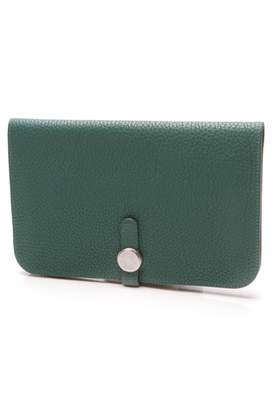 Hermes Dogon Green Leather Wallets