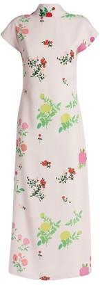 BERNADETTE Valentine Floral Cap-Sleeved Dress