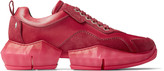 Jimmy Choo DIAMOND/M Berry Ink Dipped Sport Calf and Suede Trainers