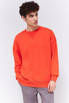 Uo Orange Oversized Sweatshirt
