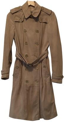 Burberry Beige Suede Trench coats