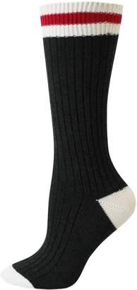 Point Zero Women's Striped Crew Socks