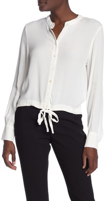 Hazel Long Sleeve Tie Front Top