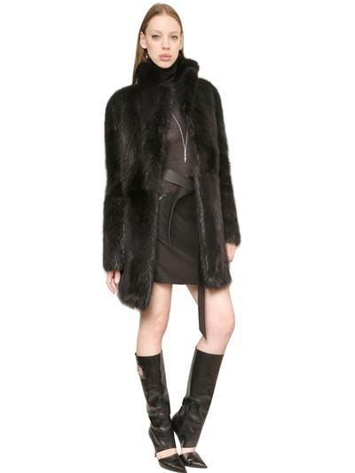 Salvatore Ferragamo Beaver Fur Coat