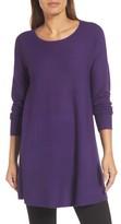 Eileen Fisher Women's Jewel Neck Tunic Sweater
