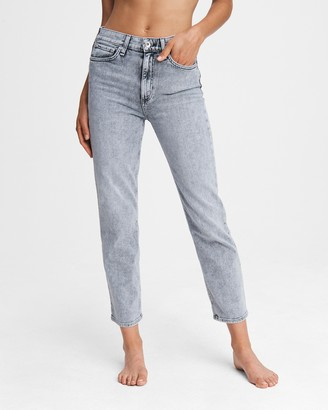 Rag & Bone Nina high-rise cigarette - dusty trail