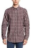Mexx Men's Regular Fit Long Sleeve Leisure Shirt - Red -