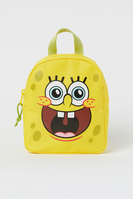 H&M Small Printed Backpack - Yellow