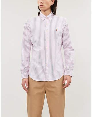Polo Ralph Lauren Logo-embroidered striped cotton-poplin shirt