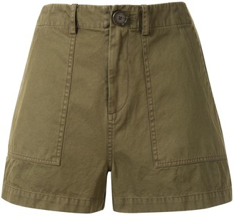 Sea high-rise fitted shorts