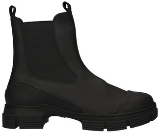Ganni Rubber ankle boots