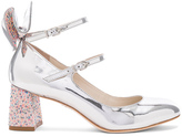 Sophia Webster Leather Lilia Mid Mary Jane Heels in Metallics.